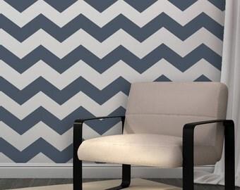 Chevron Allover Stencil -set(2 sheets)- for DIY wall decor just like wallpaper