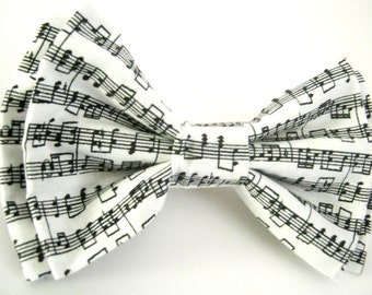Dog Bow Tie Small Medium Large Music Notes Bowtie