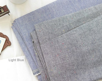 Chambray Linen Fabric in 2 Colors By The Yard