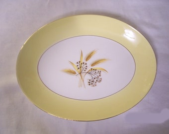 Vintage Wheat Pattern Serving Platter