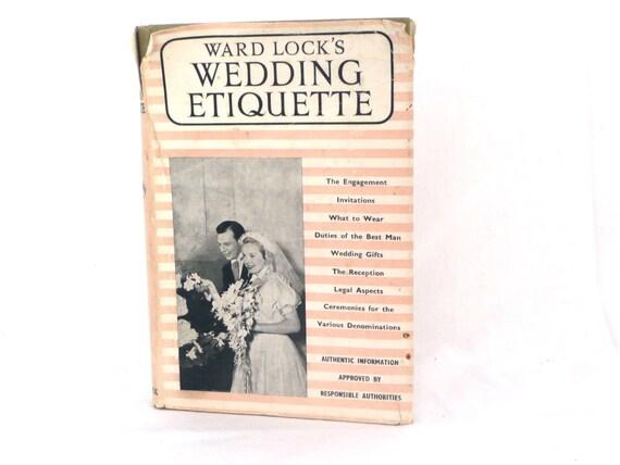 Wedding Gift Shipping Etiquette : Vintage 1950s Ward Locks Wedding Etiquette Book