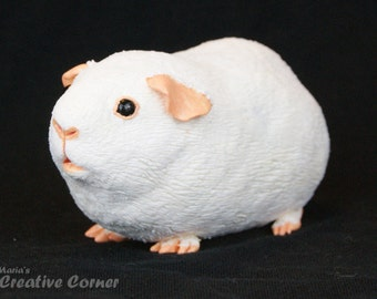 DISCOUNTED Guinea Pig Sculpture, Premade, Ready to Ship