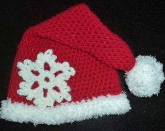 Baby Crochet Santa Hat