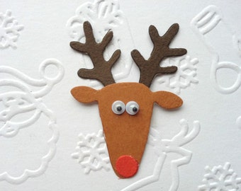 Reindeer Die Cuts card toppers kit for christmas cardmaking scrapbooking craft projects makes 10
