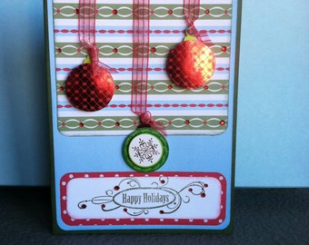 Happy Holiday Ornament Card