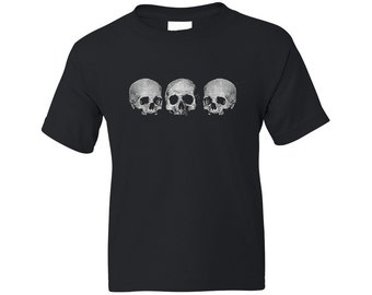 Kids Pirate Shirt - 3 Skulls