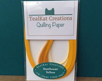 Sunflower Yellow Quilling Paper