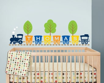 Train with Name, Train decal, Train monogram, Transportation decal