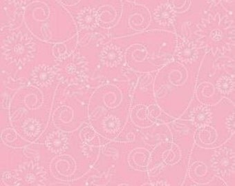 Quiltsy Destash Party Riley Blake Penny Lane Pink Swirls Fabric