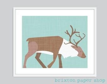 A Grazing Elk Nursery Digital Art Print - 8x10, 11x14 OR 13x19