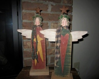 Primitive angel, wood angel, primitive wood decor, Angel, wooden angel, wood angels, primitive angels, Primitive decor, country primitive