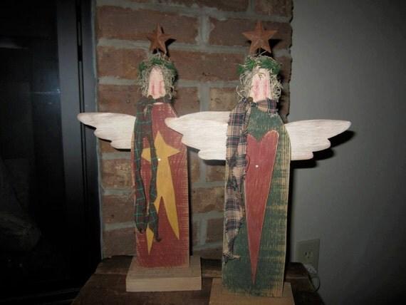 Santa In Chimney Wood Cutouts Painted