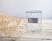 Small Metal Wire Basket – 3 sizes – Country, Cottage, Shabby Chic