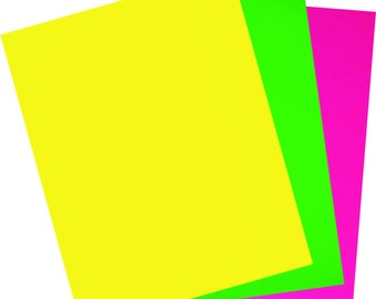 Iron-on sheet of flex PU fluo