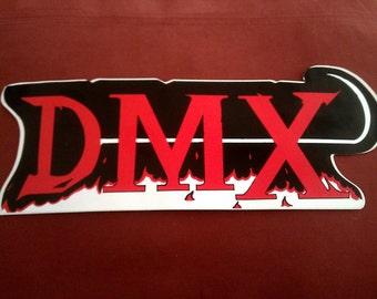 "DMX 11""x4 3/8"" Sticker Decal new old stock"