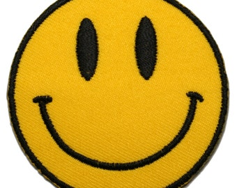 Yellow Smiley Iron on Patch