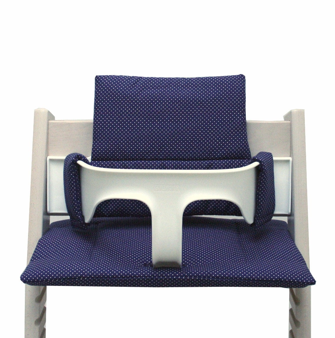 Cushion for tripp trapp high chair blue with small dots for Chaise haute stokke