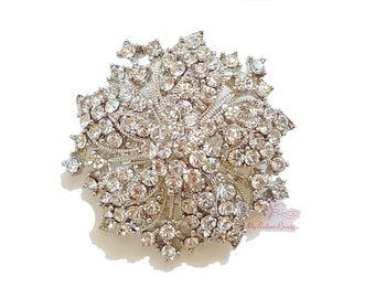 Wedding Bridal Brooch Vintage Brooch with the look of Victorian made of Rhinestone Crystal,Bridal Brooch, Wedding brooch BR0007