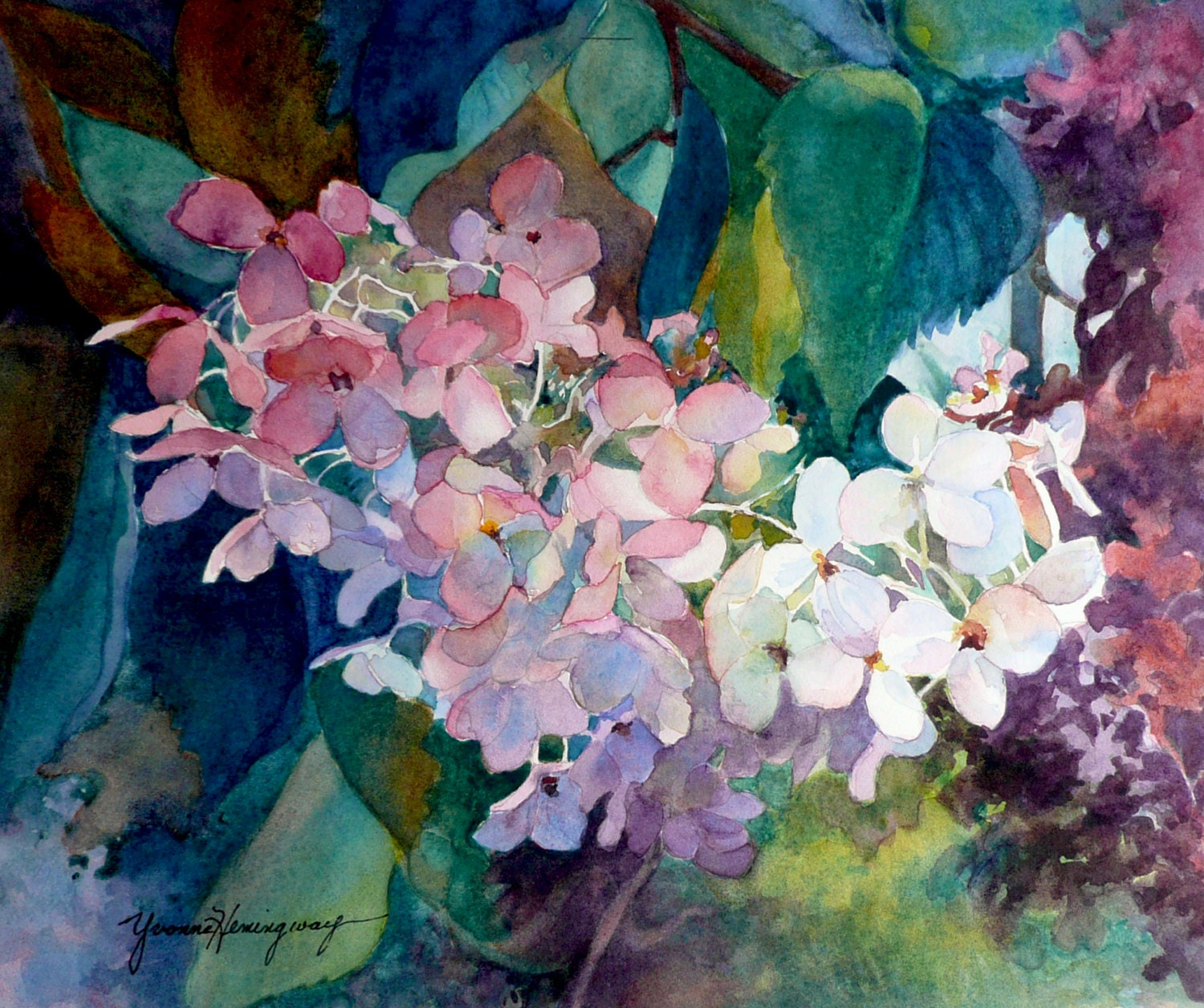 Hydrangeas Painting Fine Art Giclee Print Of Original