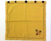 Vintage Upcycled Gold Embroidered Cotton Pillow Sham - Handmade