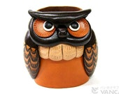 Owl Leather Owl  Eyeglasses glasses sunglasses Holder Stand *VANCA* Made in Japan #26209 Free Shipping