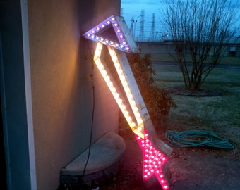 Mid Century Double Sided Flashing Arrow