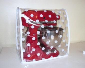 Polka Clear PVC Food Mixer Cover - KMix Kitchen Aid