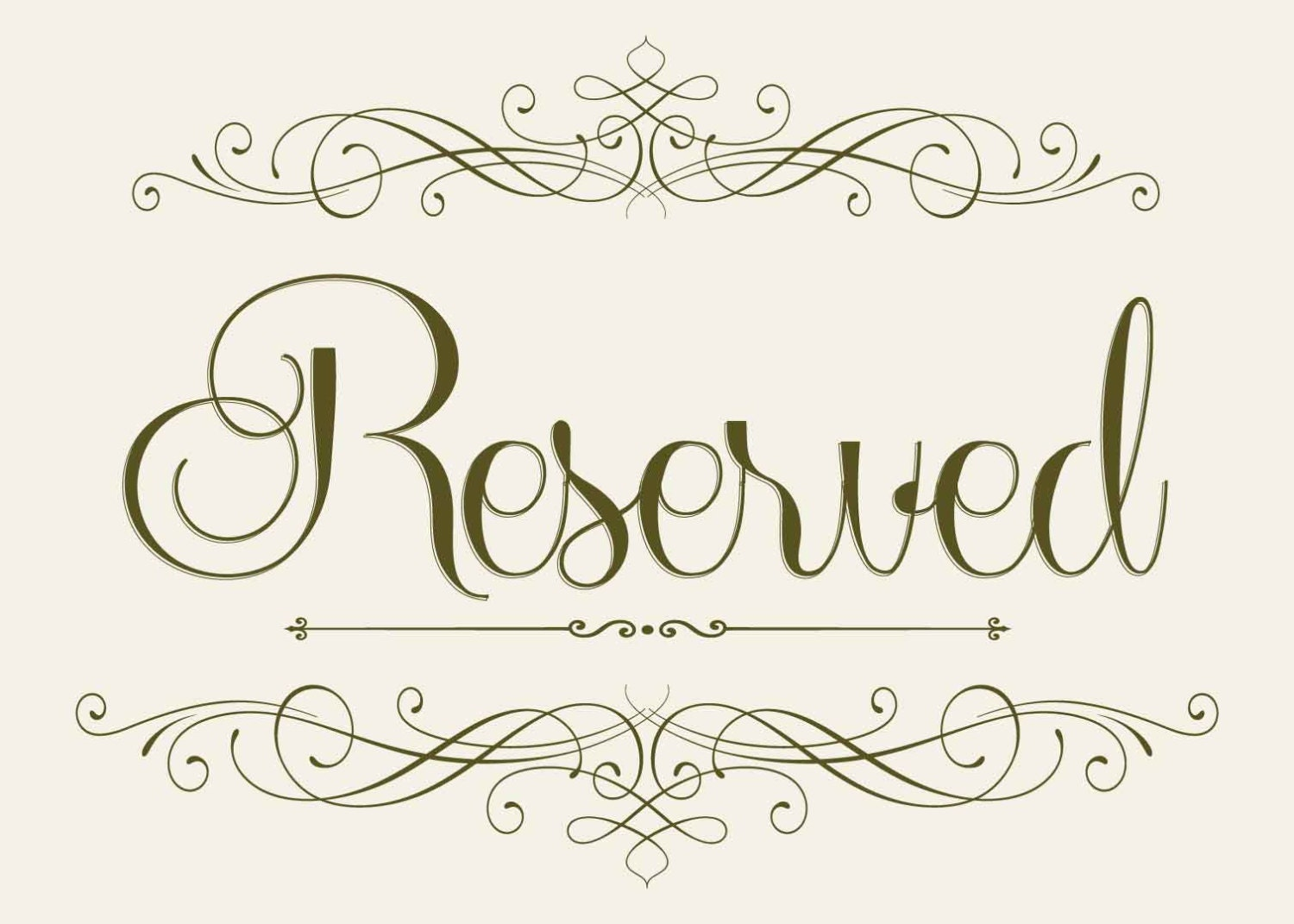 Crazy image intended for free printable reserved seating signs