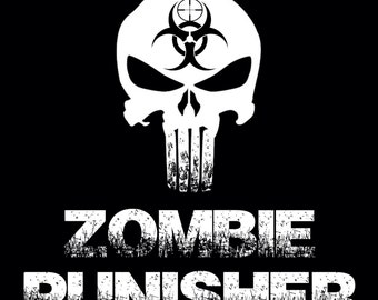 Zombie Punisher - Inspired by the walking dead zombie art zombies zombie life skull punisher zombie apocalypse