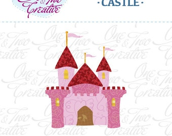 Castle Fabric APPLIQUE TEMPLATE Only PDF - Instant Download - Permission to Sell Finished Items
