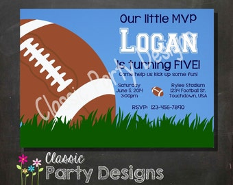 Football All Star MVP Birthday Part y Invitation - Digital Printable ...