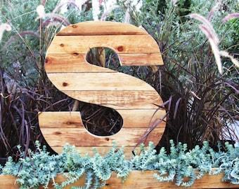 One Large Giant handmade wooden letter