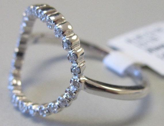 14k Gold Diamond Fashion Circle Ring Open Circle Ring 6j7746