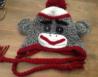 Adorable Crochet Sock Monkey Beanie with Earflaps