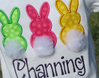 Personalized Three Little Bunnies with Tulle Tails Tee
