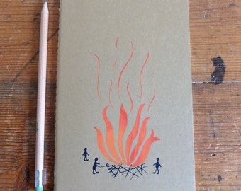 Plain, Medium, Moleskine Notebook with Bonfire
