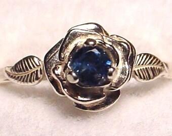 Montana Sapphire Rose Ring