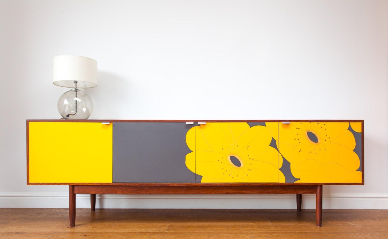 mid century modern upcycled vintage sideboard. Black Bedroom Furniture Sets. Home Design Ideas