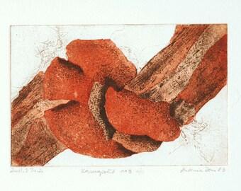 Kosmopolit 118    Original Etching from 1983    Artist A.Dom.