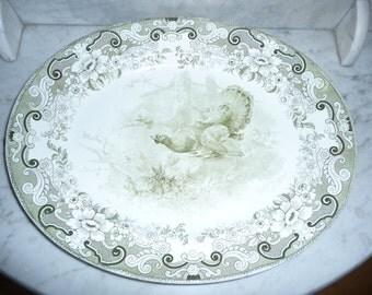 Rare Antique Transfer Ware Pottery Service Platter  - Royal Doulton – circa 1902