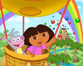 Dora and Boots Cake Topper with FREE Personalization