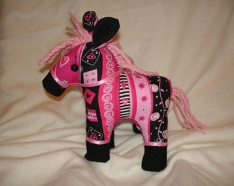 Stuffed HORSE PONY sewing pattern and instructions
