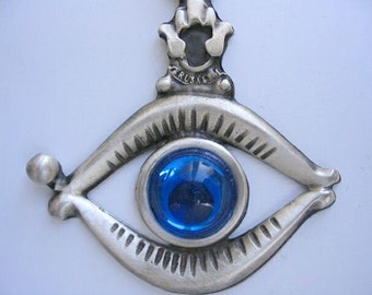 Evil eye protection keychain charm from Israel kabbalah amulet