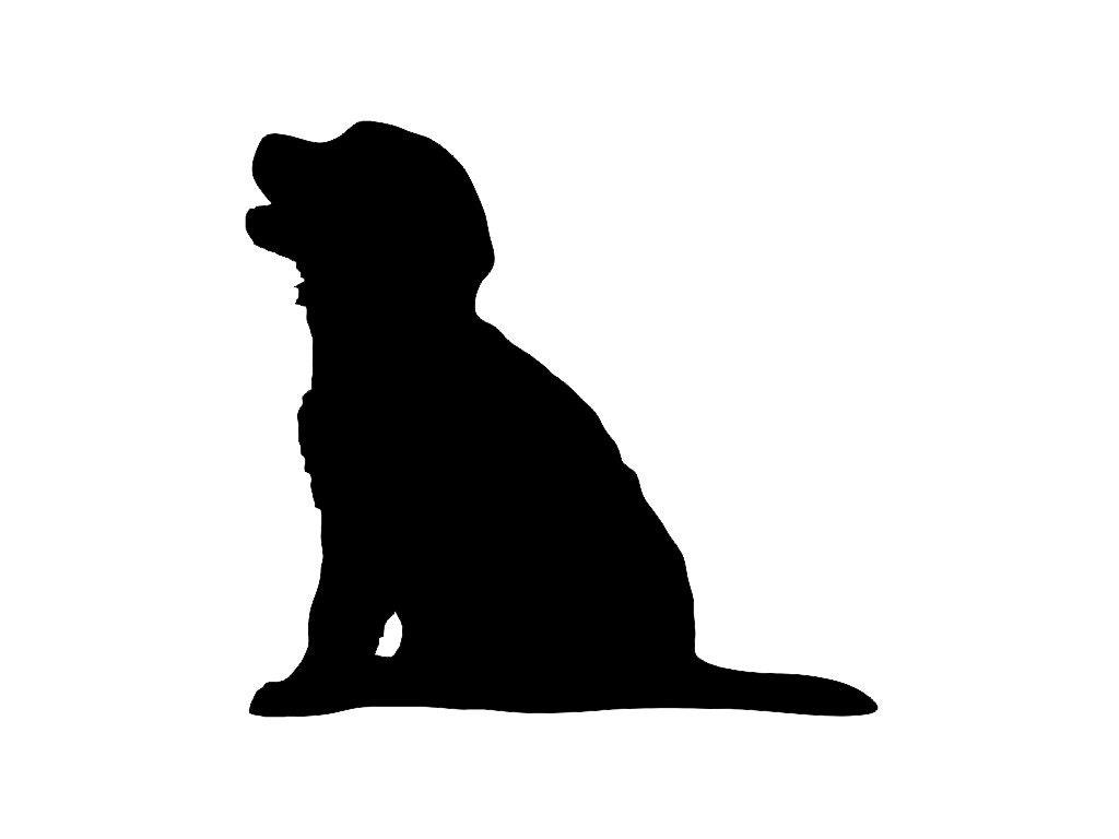 Golden Retriever Puppy Dog Breed Silhouette Custom Die Cut