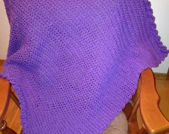 Spring Stroller Blanket - a loom knit pattern