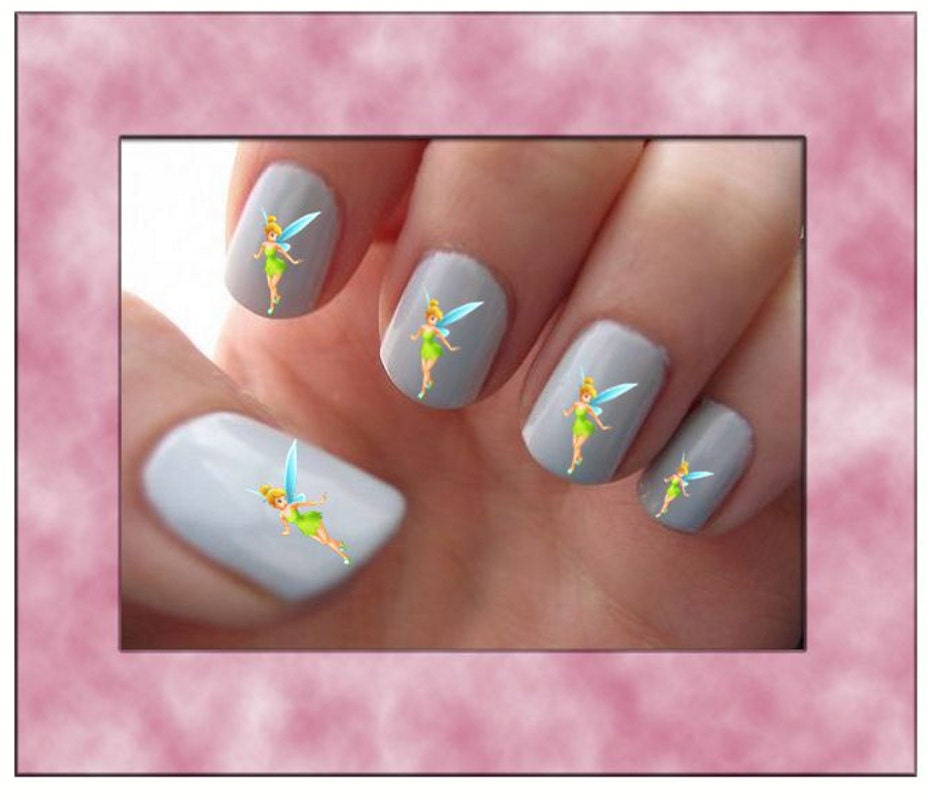 Tinkerbell Nails: Tinkerbell Fairy Nail Art Water Slide Transfers Manicure Nail
