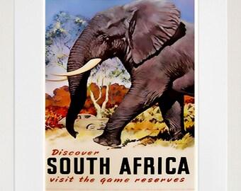 Africa Retro Poster African Art Travel Poster Wall Art Print (ZT407)