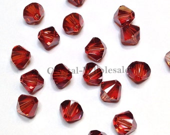 Crystal Red Magma (001 REDM) Swarovski 5328 / 5301 3mm Xilion Bicone Beads ** FREE Shipping