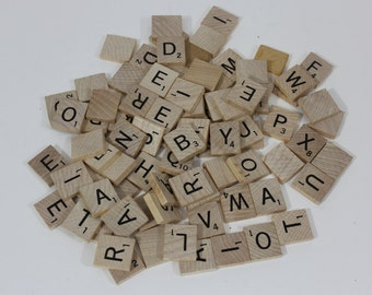 SCRABBLE TILES:  B, C, G, H, M, P, V, W, X, and Y tiles. You pick, 1.75 each. Great for arts, crafts and jewelry