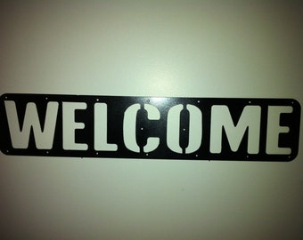 Metal Welcome Door Plate Porch Decor Welcome Yard, Garden Metal Door Decor